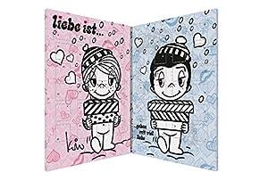 Liebe ist süßer Partner Adventskalender für Pärchen mit 150g Vollmilchschokolade im liebevollen Design