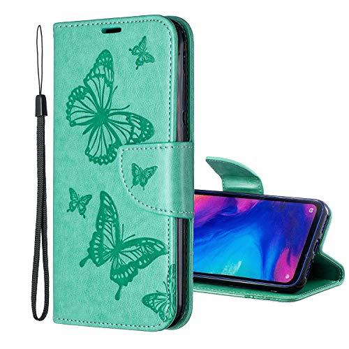 """Nadoli Leder Hülle für iPhone 8 Plus 5.5"""",PU Leder Magnetverschluss Standfunktion Schmetterling Muster Brieftasche Schutzhülle Etui im Bookstyle für iPhone 8 Plus/7 Plus 5.5"""""""