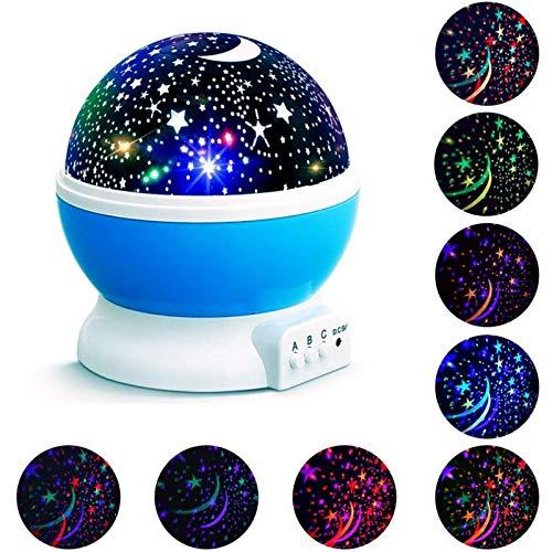 che LED Tischlampe Nachtlicht Stern Projektor Zimmer Kinder Geschenk Spielzeug ()
