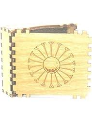 Tee De Golf caja. Fabricados a partir de Madera y Acabado en Teca Aceite, 7 cm x 8 cm x 2.5 cm Personalizado Opciones Disponibles
