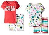 Carters Baby Girls 4-Piece Snug Fit Cotton PJs Woke up in Paradise