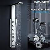 Panel de ducha multifunción bonade Luxus dusc hamatur cepillado acero