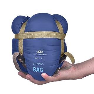 Agemore Envelope Outdoor Sleeping Bag Camping Travel Hiking Multifuntion Ultra-light (Dark Blue)