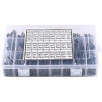 660pcs 24 Werte Polyester Folienkondensatoren Sortiment Kit 100V 0.22nF bis 470nF mit klarer Kunststoffbox