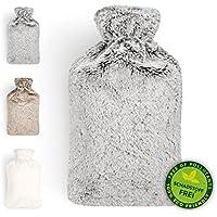 Bolsa De Agua Caliente | Botella De Agua De Gran Capacidad (2 L) | Con Funda De Material Suave Y Agradable | Bolsa De Calor 100% Eco Friendly | Perfecto Para Los Días Frios | De Blumtal (Gris)