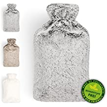 Hot Water Bottle   Warm Comfort   Premium Faux Fur Cover   Silky Soft For Cosy Evenings   Ideal For Cold Winter Nights & Well-Being   Relieves Abdominal Pain   Large 2L Capacity   by Blumtal