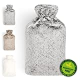 Hot Water Bottle | Warm Comfort | Premium Faux Fur Cover | Silky Soft For Cosy Evenings | Ideal For Cold Winter Nights & Well-Being | Relieves Abdominal Pain | Large 2L Capacity | by Blumtal