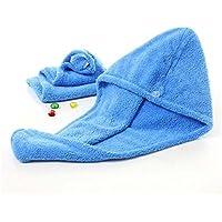 Ancdream - tapa para el secado del cabello, ultra absorbente, toalla seca rápida de