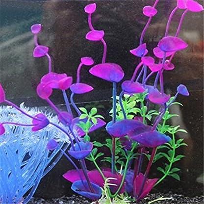 bismarckbeer Artificial Aquatic Plants, Fish Tank Aquarium Plastic Plant Grass Water Plants Decor Ornament 3
