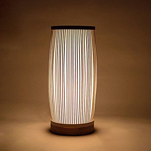 TangMengYun Japanische Art hölzerne Schreibtischlampen, Hand-benennen Bambus neben Lampe dekoratives Licht, Wohnzimmer Schlafzimmer Studie Raum Tischlampe Schreibtisch Lampe (E27) (Thermometer Japanische)