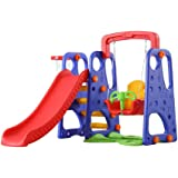 XIANGYU outdoor garden children plastic slide and swing toys