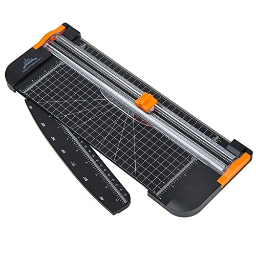 RanDal Heavy Duty Paper Cutter A4 Präzision Rotary Paper Photo Card Cutter Trimmer Ruler