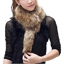 a523e8a37cbb SwirlColor Fluffy fausse fourrure écharpe hiver chaud col châle cou pour  les femmes