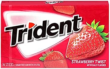 Trident Sugar Free Gum Strawberry Twist, 18stick