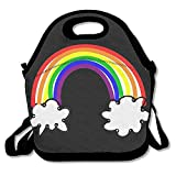 Free Rainbow Clipart Lunch Tote Bag - Large & Thick Insulated Tote - Suit For Men Women Kids