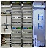 TM: 12072: Hager Zählerschrank 1x 3.HZ Zähler + 2x Verteiler + 1x Multimediafeld ZB34S