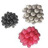 150 Bälle für Bällebad gemischt mix mit pink, grau und schwarz