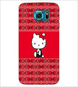 PrintDhaba Kitty D-4544 Back Case Cover for SAMSUNG GALAXY S6 (Multi-Coloured)
