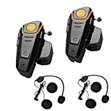 Veetop Motorrad / Ski / ATV Helm Interkom Bluetooth Multi Interphone Gegensprechanlage Sprechanlage 1000M - motorradhelm intercom (2er Set/EU-Ladegerät)