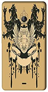 Timpax Slip-resistant, stain-resistant and tear-resistant Hard Back Case Cover Printed Design : A kings throne.Precisely Design For : Nokia Lumia 540 ( Microsoft Lumia 540 )