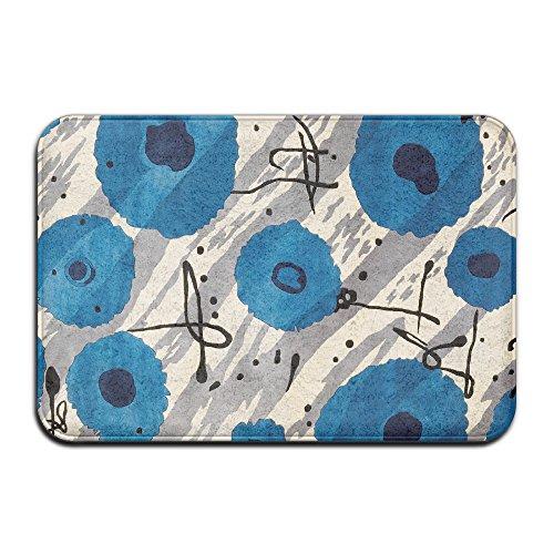 Homlife Azul Lunares Doormats-Felpudo Entrada