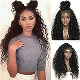 Dentelle Perruque Cheveux Synthétiques Sans Colle Kinky Bouclés Armure Afro Cheveux...