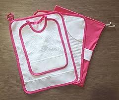 Idea Regalo - Crociedelizie, Set asilo da ricamare punto croce 4 pezzi tovaglietta bavaglino sacca asciugamano salvietta in tela aida