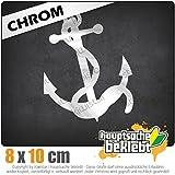 Anker 9 x 11 cm IN 15 FARBEN - Neon + Chrom! Sticker Aufkleber