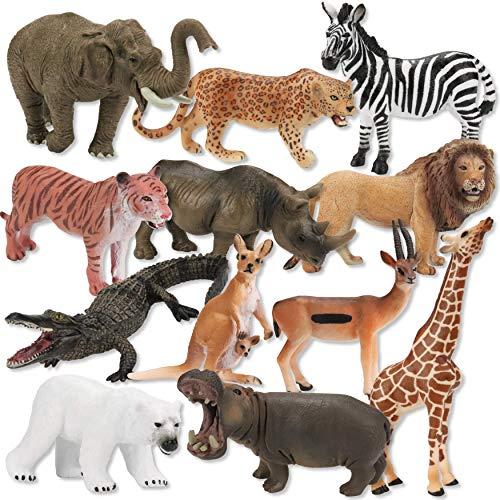 HEMTO Juego de Animales de Juguete - Animales de zoológico Premium -...