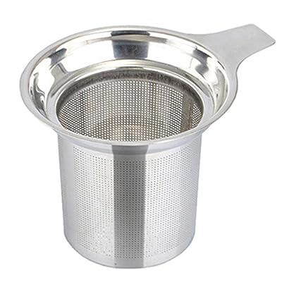 Rosesummer Maille en acier inoxydable Infuseur à thé réutilisable Passoire Vrac Feuilles de thé d'épices filtre