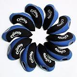Callaway golf Schlägerkopfhüllen Golf Eisen deckt Eisenhauben 10pcs/set MT/C02 schwarz/blau