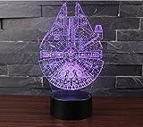 3D Optische Illusions-Lampen NHsunray LED 7 Farben Touch-Schalter Ändern Nachtlicht Für Schlafzimmer Home Decoration Hochzeit Geburtstag Weihnachten Valentine Geschenk Romantische Atmosphäre (Star Wars Serie)