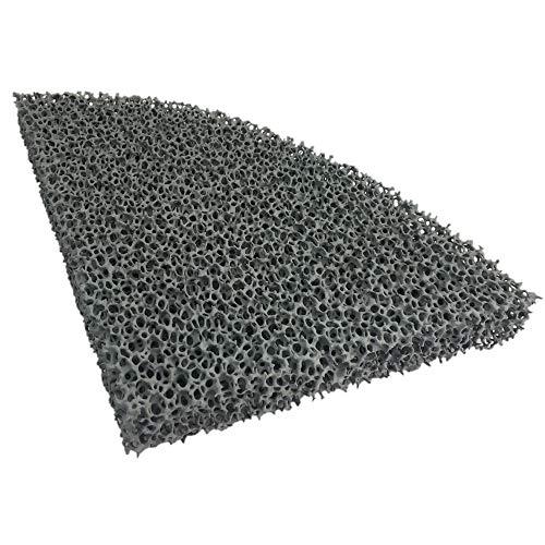 PUR Schamotte Feinstaub Rußfilter 228x178x25mm (halb rund)