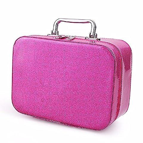 KAFEI Sac de voyage maquillage peinture sac de lavage à grande capacité portable 8 pouce ,big red rose
