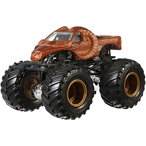 Mattel Hot Wheels Monster Jam Monster-Truck mit Team Flagge (Zombie Hunter)