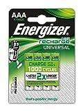 Energizer NimH-Akku Rechargeable Universal Micro (1,2Volt 500mAh, vorgeladen 4er-Packung)