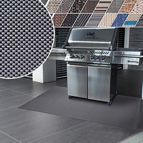 casa pura Grillmatte | Unterlage für Grill zum Schutz von Balkon und Terrasse | robuster + abwaschbarer Bodenschutz in 3 Größen - Lucca 90x180 cm