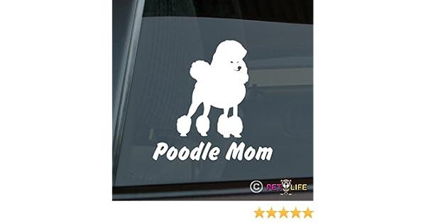 Poodle Mom Sticker Vinyl Auto Window v3 standard Mister Petlife PD-0953