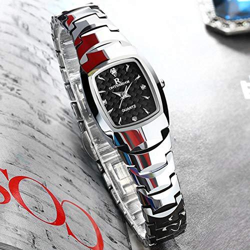 Beiläufige Uhrfrauuhrdamen Und -Frauen Passen Wolframstahlfrauuhrfrau 005 Silberne Schattierung Auf