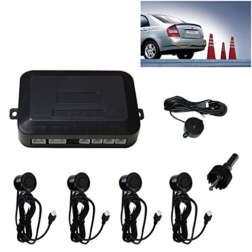 VINGO® 4 Sensoren Auto Rückfahrwarner Einparkhilfe Rückfahrsystem + Lautsprecher PDC