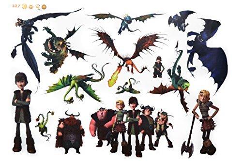 Oulique - Autoadesivo XXL a tema 'Dragon Trainer'