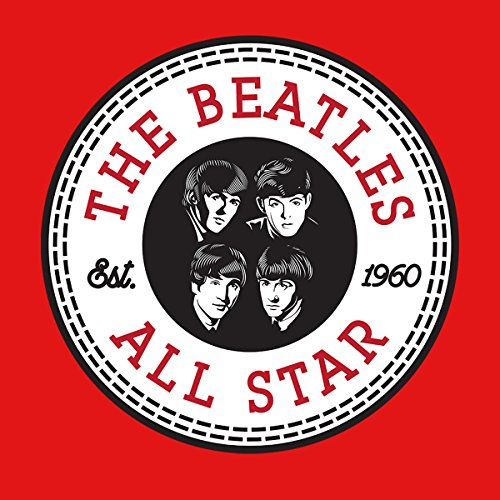The Beatles All Star Converse Logo Men's Hooded Sweatshirt Red