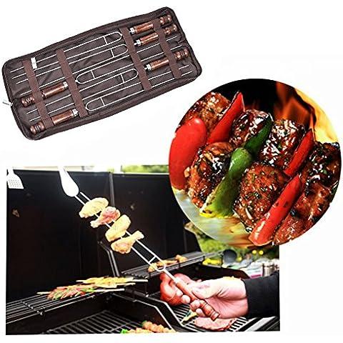 Rechel 5pcs acciaio inossidabile BBQ Grill forcella,