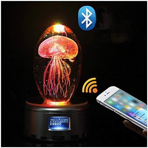 Quallen Kristallkugel Kreative Spieluhr Freundinnen Klassenkameraden Freundinnen Kreative Geburtstagsgeschenk Freundschaft Geschenk Ornamente 18 Musik Bluetooth MP4 MP3-Musik ( Farbe : Bluetooth MP4 )