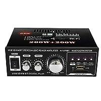 12 فولت / 220 فولت ميني 2 سي سي دي العرض HIFI مكبر صوت ستيريو ومضخم صوت BT FM راديو محمول والمنزل 400 وات التحكم عن بعد