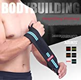 #3: AGE CARE 1Pcs Of Weightlifting Wristband - Professional Sport Training Bands -Hand Wrist Straps -Wraps Guards For Fitness Gym. (Blue)