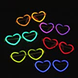 Lanlan Luminous Brillen Colorful Glow Stick Rahmen Herz Form