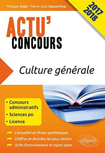 Culture Générale Actu'Concours 2017 2018