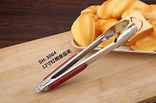 Himi Acier Inoxydable Ciseaux Pinces avec Plastique Poignée en Silicone Idéal pour la nourriture 9