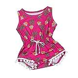 Bekleidung Longra Neugeborene Baby Mädchen Strampler Druck Spielanzug Jumpsuit Sunsuit Kleider Set Mädchen Kurzarm-Body (0-24Monate) (80CM 6-12Monate, Hot Pink)